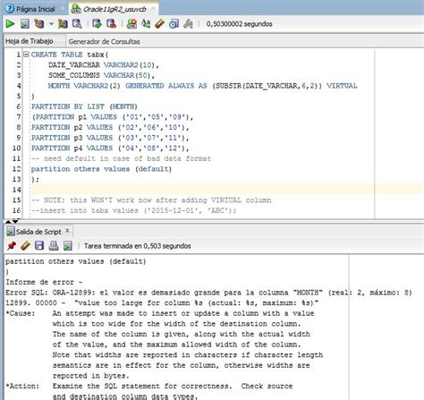Oracle List Tables by Sql Partitioning A Oracle Table Using A Function A Column Stack Overflow