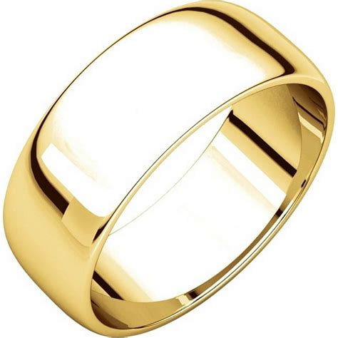 116831 14k gold 7mm wide wedding rings