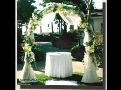 Easy Wedding arches decorations   YouTube