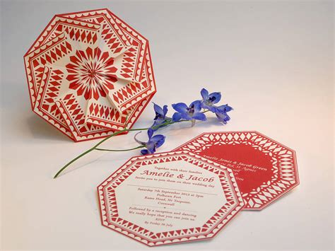 Origami Invitation - origami wedding invitations by anja
