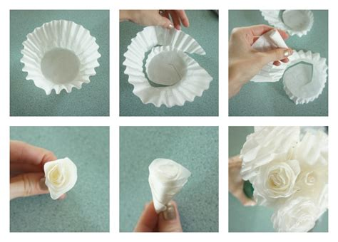 How To Make Paper Flowers Out Of Coffee Filters - easy diy coffee filter roses try it three different ways