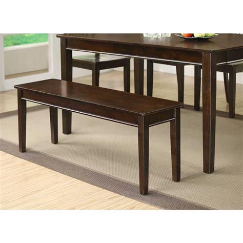 walmart dining table with bench whalen homestead dining bench espresso walmart com