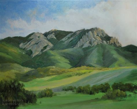 painting montana mt boney boney mountain conejo valley painting by