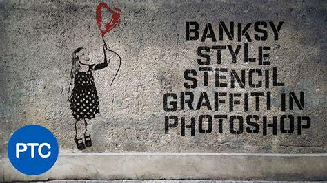 banksy style stencil graffiti effect  photoshop youtube