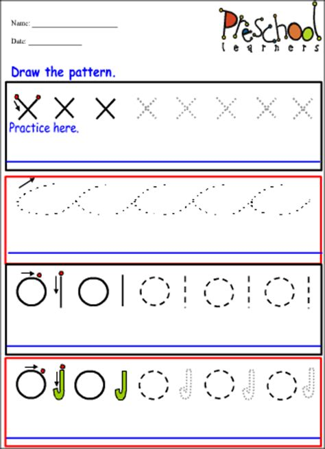 writing pattern designs common worksheets 187 pattern writing worksheets for nursery