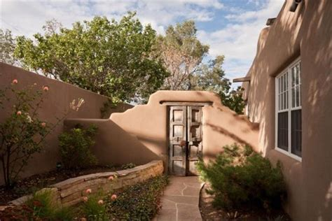 adobe style homes courtyard adobe style home santa fe new mexico gardens courtyards house