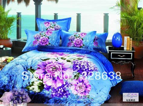 3d bedding sets 4pcs purple roses comforter sets king size