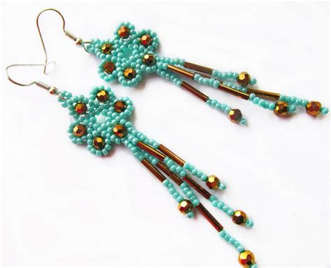 beaded earrings patterns free free pattern for earrings marcela magic