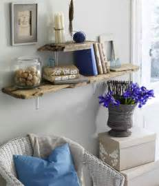 Diy Living Room Wall Decor Coastal Diy Driftwood Coastal Shelves