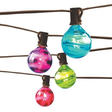 homes gardens outdoor marble globe string light