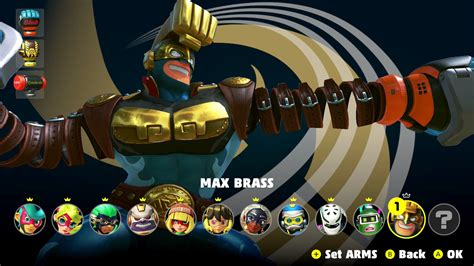 arms update     includes max brass