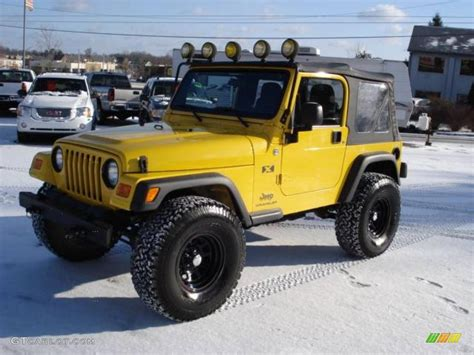 jeep yellow 2006 solar yellow jeep wrangler x 4x4 23094440 photo 2