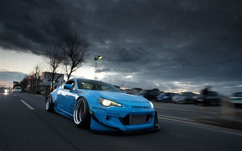 toyota supercar wallpaper toyota gt86 blue supercar front view 1920x1200