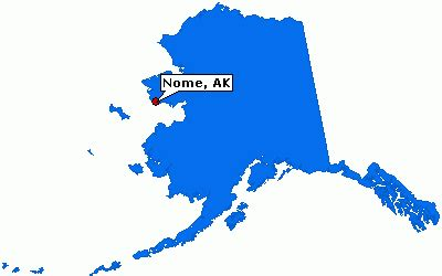 where is nome alaska on a map nome alaska city information epodunk