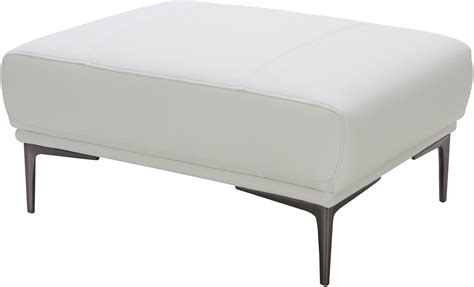 davos white leather ottoman from jnm coleman furniture