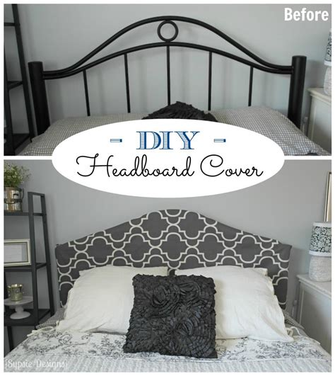 Remodelaholic Easy No Sew Headboard Slipcover Tutorial Headboards Diy