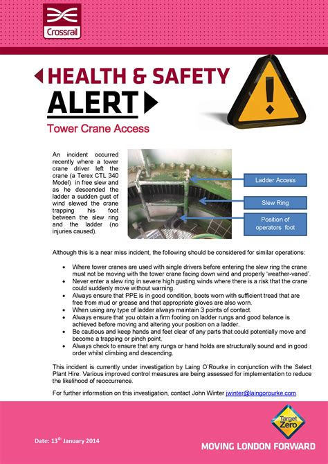 safety alerts crossrail learning legacy