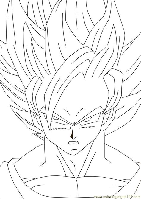 coloring pages goku goku dragon ball coloring pages