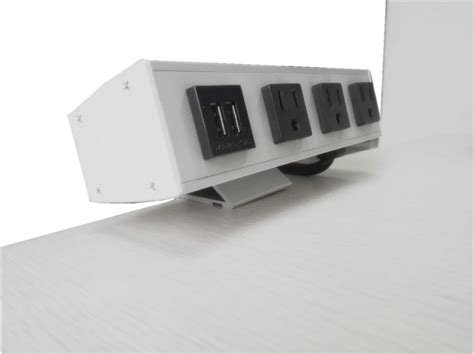 how to mount a power to a desk desk mounted power sockets with 3 outlets and 2 usb ports