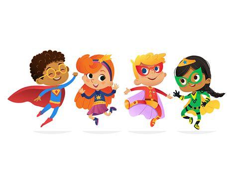 superhero kids  olga p  dribbble