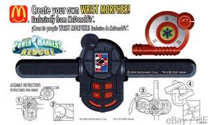 How To Make A Paper Power Ranger Morpher - power rangers mcdonald wrist morpher cardboard punch