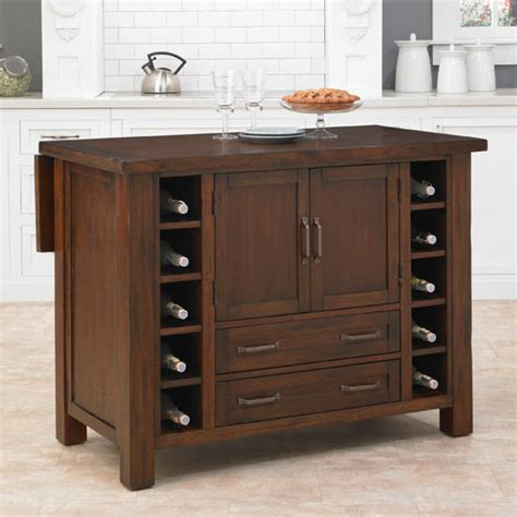 Home Styles Kitchen Island With Breakfast Bar Cabin Creek Kitchen Island With Breakfast Bar In A Chestnut Finish By Home Styles