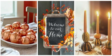thanksgiving home decorating ideas 40 easy diy thanksgiving decorations best ideas for