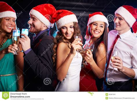 christmas party stock image image of holding adult