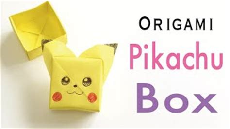 Origami Pikachu Box - papercraft origami for how to make origami paper