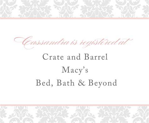 registry on wedding invitation registry cards in wedding invitations