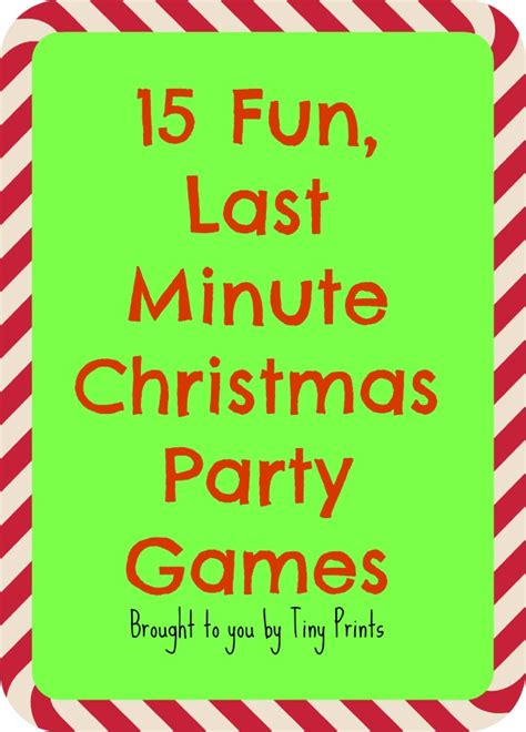 easy christmas games for adults last minute