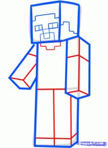 how to draw steve from minecraft minecraft steve step by
