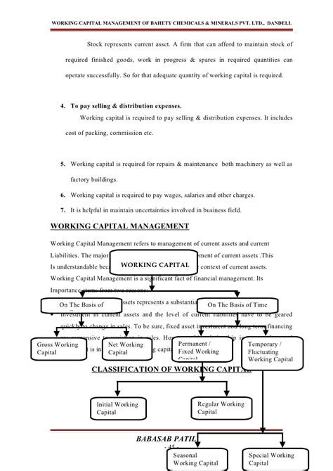 Mba Project Report On Cost Of Capital by Working Capital Management Project Report Mba