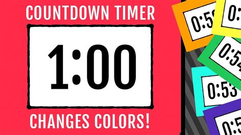 color timer 1 minute countdown timer color changing