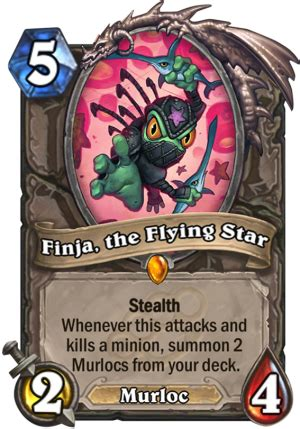 hearthstone stealth deck finja the flying hearthstone card