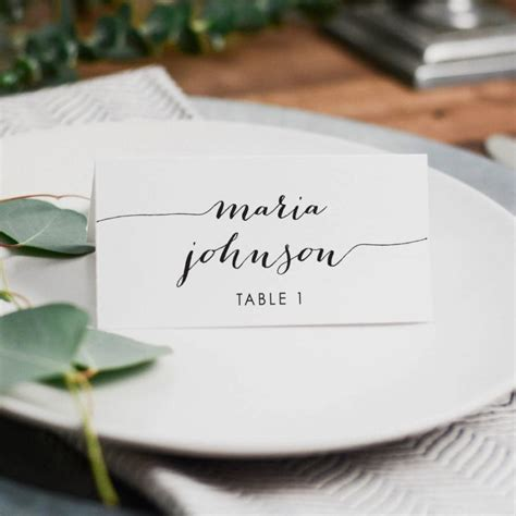 wedding place cards with names printed uk printed wedding place card 3 5x2 folded card
