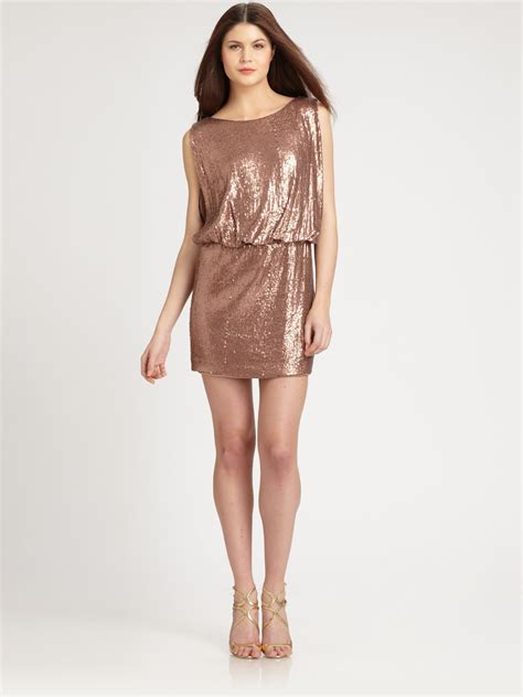 Knit Dress Okc 12 lyst laundry by shelli segal sequined knit dress in pink