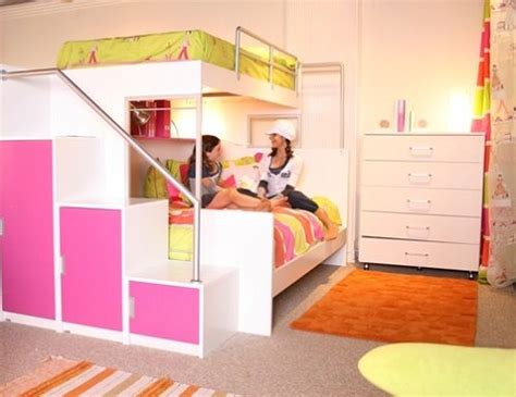 cool teen beds cool pink and orange bunk beds for teenage girls tween