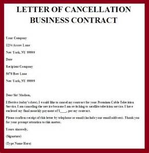 how - Cancel Contract Letter