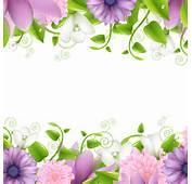 Vivid With Flowers Borders Vector 01  Flower Frames