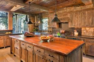 Rustic kitchen interior would have to be characterized by a warm and