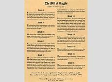 The bill of rights essay