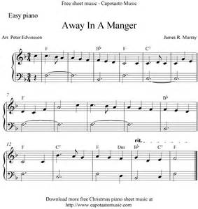 Away in manger free printable christmas sheet music for easy piano