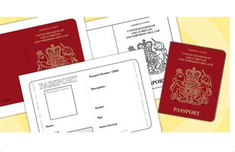 passport templates free word pdf psd illustrator