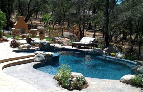 Pictures Of Backyards With Pools Best Backyard Swimming Pools Marceladick