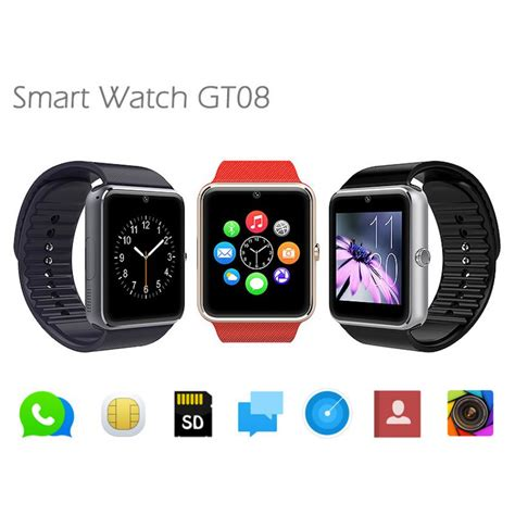 Smartwatch Gt08 Smartwatch Gt08 With Sim Card Tf Card In Pakistan Hitshop