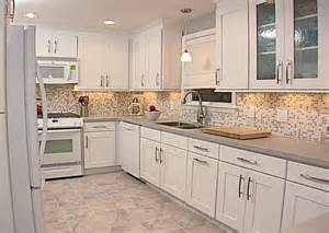 Kitchen tile backsplashes ideas for white cabinets home design ideas