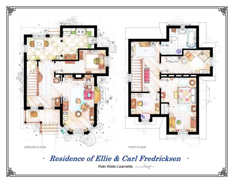 apartments accurate floor plans of 15 famous apartments pixar up apartment floor plan