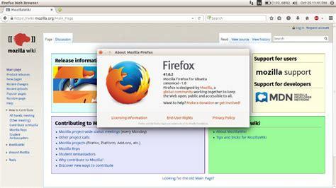 get ubuntu download ubuntu install the latest version of firefox in ubuntu 15 10 via