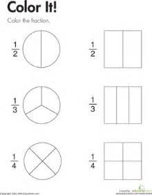 fraction practice color it worksheet education com